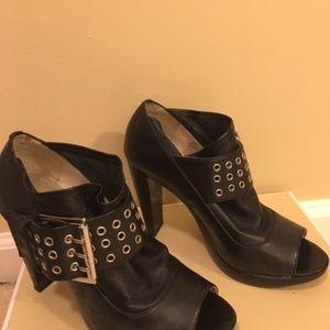 Michael Kors St. Marks Black Peep Toe Booties New
